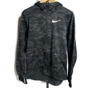 Nike Dri Fit Basketball Black & Grey Zip Up Jacket